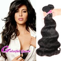 Wholesale Malaysian Wavy Virgin Hair 4pcs - Brazilian Body Wave Human Hair Bundles 3 or 4pcs 7A Body Wave Hair Weaves Wet and Wavy Peruvian Malaysian Indian Virgin Hair Extensions