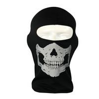 taktischer schutz schädel maske großhandel-Gesichtsschutz Airsoft Paintball Shooting Gear Vollgesichts Polyester Tactical Airsoft Mask Tactical Ghost Skull Mask