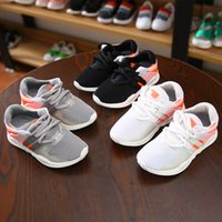 Wholesale Korean Sneakers For Girls - Children's Breathable Mesh Shoes Boys 2017 Spring And Autumn New Pupil White Sports Shoes Korean Girls Leisure Sneakers For Kids