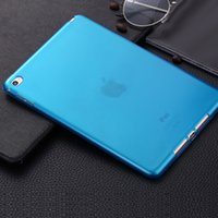 Wholesale Ipad Mini Frosted Case - for iPad mini 4 ultra thin clear crystal transparent soft TPU case frosted handle silicone gel back cover shell for Apple iPad mini4