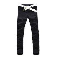 Wholesale Men Wholesale Fitted Coat - Wholesale- 2017 Men Casual Jeans Mid Pencil Pants Stylish Designed Straight Slim Fit Trousers
