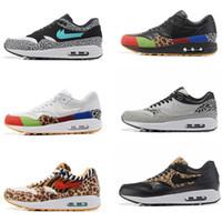 Wholesale Tassels Multicolor - 87 Master Black Multicolor Mens Running shoes atmos maxes 1 premium 2017 retro Jade elephant print Grey Women & Men's outdoor Sports sneaker