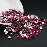 Wholesale Diy Phone Cases Rhinestone - All Size Rose Flatback Rhinestones 14 Facet, Diy Stuff For Jewelry, Phone Case Resin Flat Back Beads 3mm,4mm,5mm,6mm