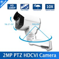 Wholesale Megapixel Ptz - Model 1 3 322 Sensor+2431H 2.0 Megapixel 10X Optical Zoom Pan Tilt Rotation IR 80m Security 1080p Mini PTZ HD CVI Camera