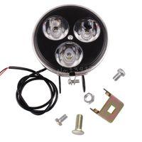 Wholesale E Bike Front - Motorcycle ATV E-Bike Headlight Front Spotlight Lamp 3LEDs 9W New