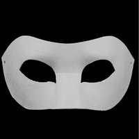 Bauta Mask blank face - Drawing Board Solid White DIY Zorro Paper Mask Blank Match mask for Schools Graduation Celebration Novelty Halloween Party masquerade mask