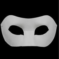 ingrosso maschere di mascheratura disegnate-Tavolo da disegno Solid White fai da te Zorro Paper Mask Blank Match maschera per le scuole Laurea Celebration Novità Halloween Party masquerade mask