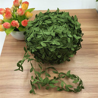 Wholesale Craft Wreaths Wholesale - 200M Silk Artificial Leaf Leaves Ivy Flower Wedding Decoration DIY Scrapbooking Craft Decorative Garland Wreath Fake Flower