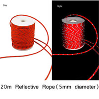 Wholesale Tent Cords - Wholesale- 4mm(D)X50m(L) Reflective Guyline Canopy Tent Rope Guy Line Camping Cord Paracord Free Shipping