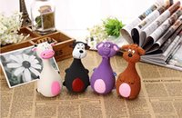 13 * 7 cm Animal Forma Pet Puppy Dog Toy Latex Chew Squeaker Sonido Squeaky Jugando Juguetes Cat Mastica Juguetes