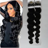 Wholesale human hair extensions micro 24 for sale - Group buy Brazilian Remy Human Natural Hair Micro Bead Hair Extensions Body Wave Micro Loop Hair Extensions g Extension anneaux cheveux