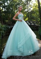 Ball Gown Reference Images 2017 Spring Summer light blue sequin tulle ball gown wedding dresses 2017 Victoria Soprano bridal one shoulder sweetheart neckline chapel train