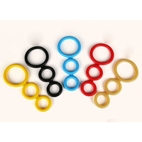 Wholesale Penis Cock Expander - Cockrings-Penile ring lock fine Three Cock Expander Rings Sex Delay Penis Ring Sex Toys for Men Adult Products