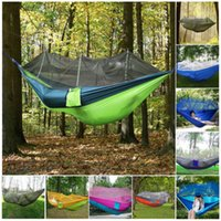 Wholesale 260 CM Double Person Travel Outdoor Camping Tent Hanging Hammock Bed With Mosquito Net