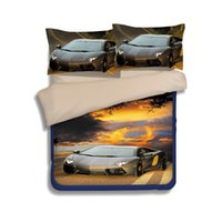 courtepointes achat en gros de-Fancy Cars Patterns Set de literie 2PC 3PC Housse de couette Housse de couette Housse de protection Haute qualité Twin Full / Queen King Size