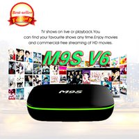 M9S Android Smart OTT TV BOX M9S V6 Quad core Internet IPTV Box 1 GB 8 GB WIFI Gioco Internet Streaming Box supporto HDMI H.265 film gratuito