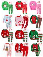 Wholesale Girl Pjs - Dropshipping Baby Boys Girls Christmas Pajamas Kids Long Sleeve Xmas PJS 100% Cotton Pajamas Children Autumn Sleepwaer Clothing Set