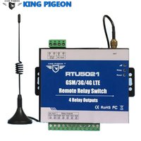 Wholesale Gsm Sms Output - GSM 3G 4G SMS Remote Switches supports Modbus TCP & TCP UDP Protocol Remote Timer Switches 4 Relays Output RTU5021