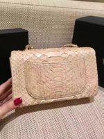 Wholesale Luxury Bag Summer - top quality women python skin size 20cm handbag,original best quality bag women party small size shoulder classic luxury bag for summer
