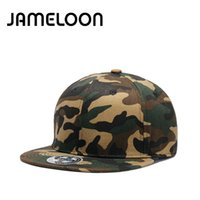 Wholesale Military Cheap Baseball Caps - [JAMELOON] Army Snapback hats Plain baseball cap hip hop cheap hats for men women gorras hats Camo Military style cap