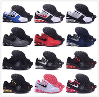 Compra Scarpe Sportive Nz-2017 SHOX Avenue 802 Current Air Cushion Running Shoes Uomo donna Original White Gold Nero Shox NZ Scarpe da ginnastica da uomo Sneakers Sport Shox Shoes
