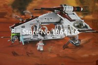 Wholesale Old Republic - New 05041 Star series The Republic Gunship Model Building Blocks Compatible 75021 classic aircraft Toys for children