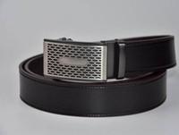 ceinture marron achat en gros de-Gladyoung ceinture végétale tannée en cuir marron foncé à cliquet automatique boucle réglable ceintures pour hommes 3.5cm de large