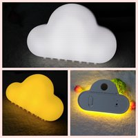 Wholesale- Cloud Night Light Lampes murales sans fil LED USB Voice / Touch Sensor Lampe Kid Novelty Lamparas Baby Luminaria Battery Nursery Lights