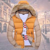 chaquetas de moda de los hombres de china al por mayor-Moda- China Moda barata Hombres Juventud Nueva Niza Otoño Inviernos Ocio Cálido Moda Marea chaqueta acolchada