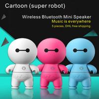 Wholesale Wholesale Usb Mini Speaker - Cartoon (super robot) Wireless Bluetooth Mini Speaker Portable Wireless Stereo Speakers V3.0 Audio MP3 Player Support USB TF card