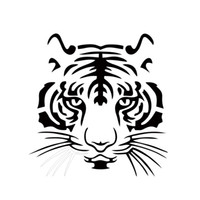 Wholesale Cars Big Sticker - Hot Sale Cool Graphicscar Vinyl Decal Sticker Big Cat Tiger Face Car Stying Reflective Stickers Jdm 19*19.5cm