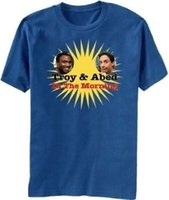 Wholesale royal blue shirts cotton - Adult Royal Blue Community Troy and Abed in the Morning Star Photo T-Shirt Tee