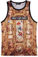 Wholesale Jersey Tank Wholesale - Wholesale- RuiYi vest men tank tops fitness Hip Hop Pray for paris jersey Fashion undershirt outwear Streetwear