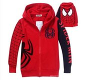 Wholesale Embroidered Hoodie Kids - Wholesale- new hot Spring Autumn Children's Coat boys embroidered hoodie jackets Kids cartoon Clothes baby outerwear