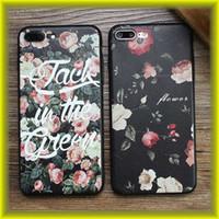 sac iphone fleur achat en gros de-Pour iPhone7 / 6S gaufrée peinte Motif fleur de haute qualité TPU étui souple en gros avec Opp Sac par Livraison gratuite