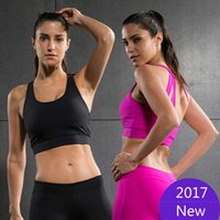2017 Vansydical Professional Absorbisce Sweat Athletic Running Reggiseno sportivo Cropped Feminino Tops Palestra fitness Donne Yoga Vest Tanks