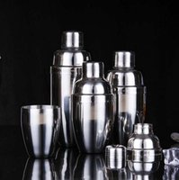 Wholesale Stainless Steel Wine Shaker - Stainless Steel Boston Shaker Cocktail Shaker Cocktail Mixer Wine Martini Drinking Boston Style Shaker For Party Bar Tool OOA2166