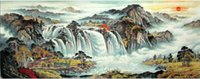 Wholesale The mountains and waters painting series from famous Chinese painters have been collected in many countries Can be made to order