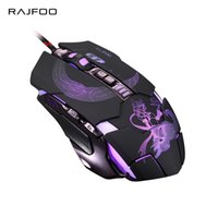 Wholesale mice definition - Wholesale- RAJFOO Mute Gaming Mouse 3200DPI with 4 Level Adjustment 3 Color Breathing Backlight 7 Key Smart Macro Definition Gamer Mause
