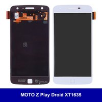 Wholesale Droid Lcd Screen - LCD Display For Motorola MOTO Z Play Droid XT1635 with Touch Screen Digitizer Full Assembly AAA+++ Genuine Same Day Shipping 100% Tested