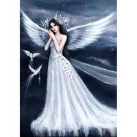 Wholesale Rooms Painted Green - New 100% DIY Full Drill Diamond Painting 5D Diamond Mosaic Fairy Angel Bird Cross Stitch Embroidery Home Decor (Free Shipping)