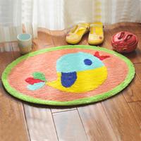 Wholesale Tapete Floral - Wholesale- 45*68cm (17.72*26.77'') Cartoon Bird Circle Soft Bathroom Carpet Bath Mat Toilet Carpet Tapis Salle De Bain Tapete Para Banheiro