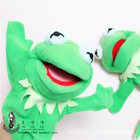 Wholesale Puppet Frog - Wholesale Cute The Muppets Plush Figure Kermit The frog Plush Hand Puppets plush tell stories toys