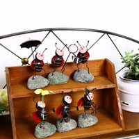 Wholesale Ant House - Zakka Ants Metal Crafts Creative Gift A New Marriage Room Decoration Vintage Home Decor Diy Garden House Home Accessories