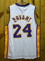 Wholesale Whosale Man - 2017 cheap whosale #24 kobe bryant men basketball jersey white black red blue yellow throwback mesh thick Stitched Embroidery Authentic wear