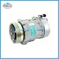 Wholesale Vw Air Conditioning Compressor - Sanden 7v16 auto air conditioning compressor for VW JETTA GOLF PASSAT CABRIO SD 1100 1162 1100 1055 1137 6213 1H0820803DX
