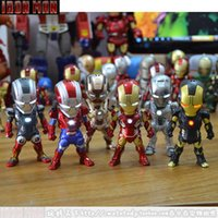 Wholesale Toy Making - Genuine The Avengers Action Figures Toys 6 pcs lot Made From Plastic And PVC For Kids