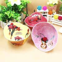 Wholesale Melamine Dinner - Multiple Cartoon Shape Bowls Melamine Dinner Plates Creative Soup Dishes Durable Melmac Ware Cute Patterns For Children Dining