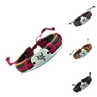 Wholesale Turtle Bracelet Men - 2017 Peace Turtles Genuine Leather Charm Bracelet Cuff Braided Wrap Bracelet & Bangles Fashion For Women Men Gifts