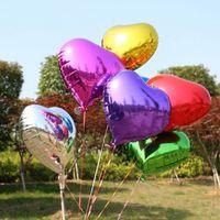 coração em forma de balões de folha de ouro venda por atacado-10 Estilo de 10 Polegada Multicolor Heart Foil Balões Festa de Casamento Decoração Decoração de Festa de Aniversário de Balões de Amor C156Q